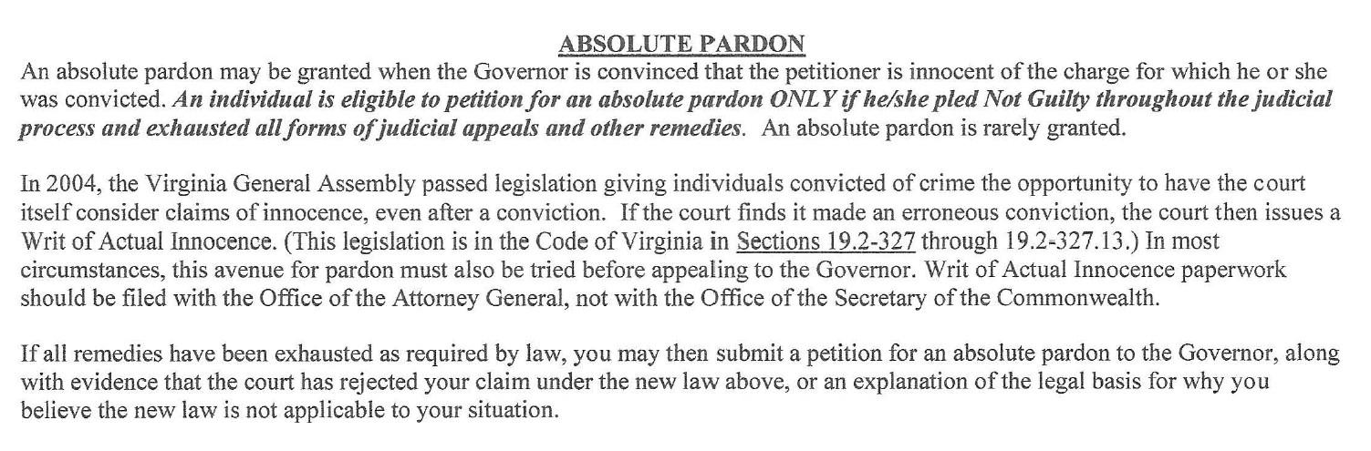 Absolute-pardon-Brian-D-Hill-USWGO-actual-innocence-virginia-secretary-commonwealth
