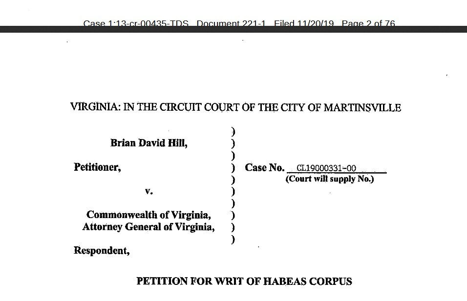 brian-d-hill-uswgo-federal-court-virginia-writ-habeas-corpus-martinsville-circuit-court-justice