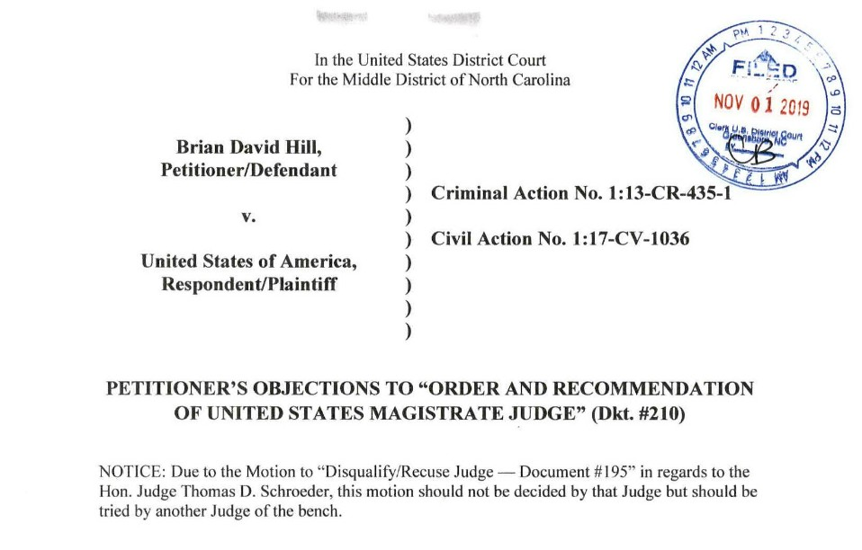 uswgo-brian-d-hill-2255-motion-objections-coward-us-magistrate-recommendation-joe-webster-news-justice
