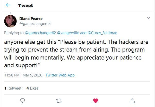 tweet-hacker-My Truth Documentary Corey Feldman's documentary My Truth_ The Rape of the 2 Coreys 403 forbidden black screen hackerapologize