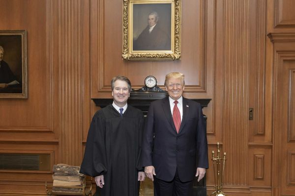 President Donald J. Trump and First Lady Melania Trump participate in a meet and greet with Supreme Court Justices