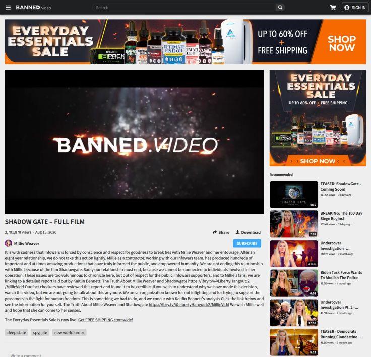 Infowars Begins Purging Millie Weaver Videos From Banned