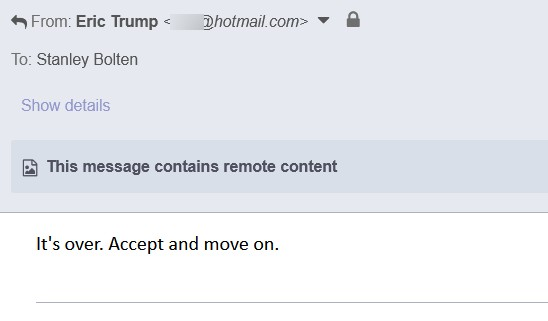 Eric-Trump-real-fake-accept-move-on-email-justice-brian-d-david-hill-uswgo-alternative-news2